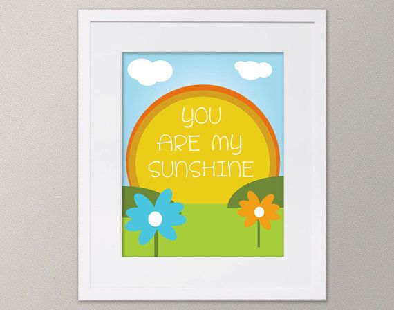 You Are My Sunshine Instant Download Children's by DaraLynnDesigns, $8.00