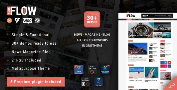 Flow News v1.8  Magazine and Blog WordPress Theme  Blogger Template