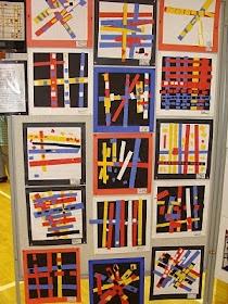 """Piet Mondrian Primary Colour collages ("""",)"""