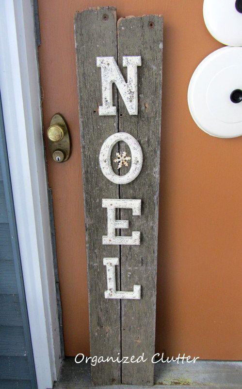 Hometalk :: A Rustic Noel Christmas Sign