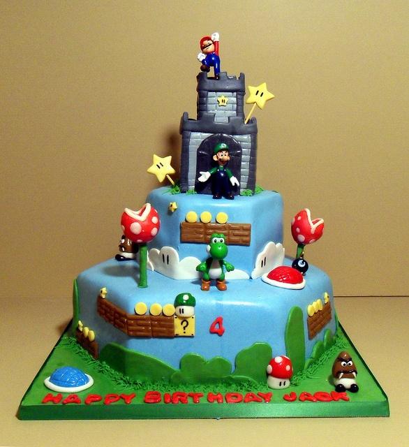 Marios Bros Wedding Cake