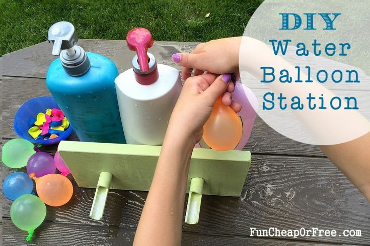 DIY Water Balloon Station: Easiest way to fill water balloons. Like, ever.
