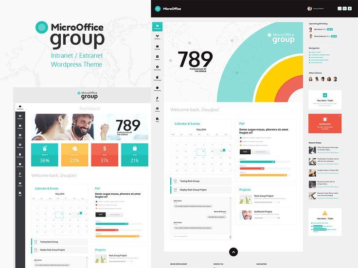 Consultez ce projet @Behance: \u201cMicro Office | Intranet and Extranet WordPress Theme\u201d https://www.behance.net/gallery/46905959/Micro-Office-Intranet-and-Extranet-WordPress-Theme
