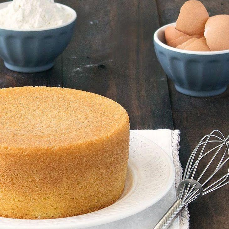 Italian Sponge Cake (Pan di Spagna) Recipe Desserts with granulated sugar, eggs, salt, grated lemon zest, cake flour