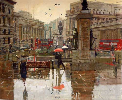 Ken Howard, Royal Exchange, rain
