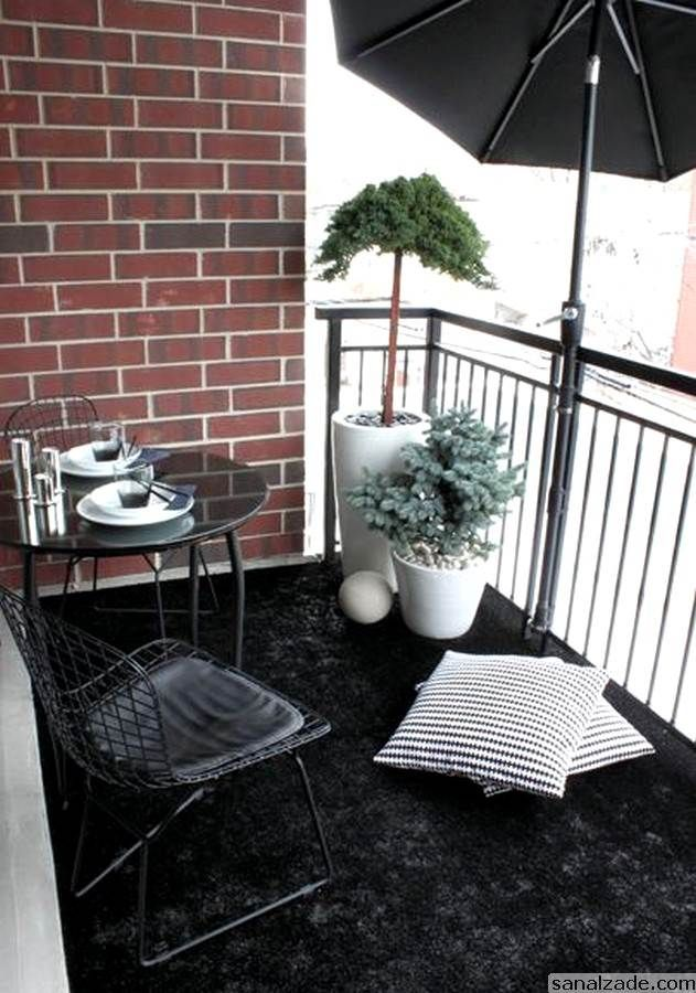 Black & White Balcony