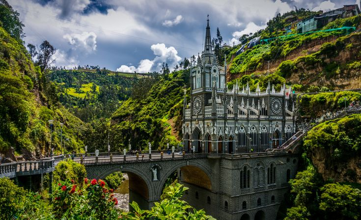 Las Lajas Sanctuary (Spanish: Santuario de Las Lajas) is a basilica church located in the southern Colombian Department of Nariño, municipality of Ipiales and built inside the canyon of the Guáitara River.