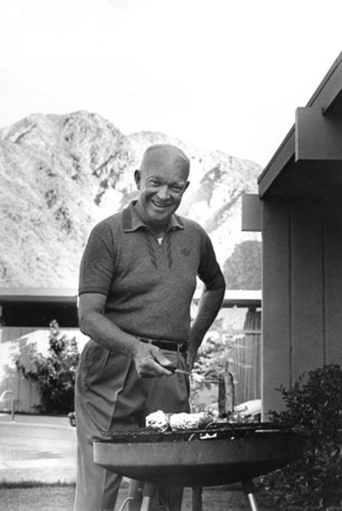 Dwight D. Eisenhower Grilling, 1961