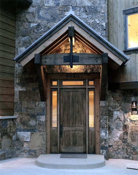 I love this entryBig Ol Swiss, Swiss Belle, Cabin Living, Home Exterior, Entry Front Doors, Doors Perhaps, Doors Gat, Stones Exterior, Awesome Entryway
