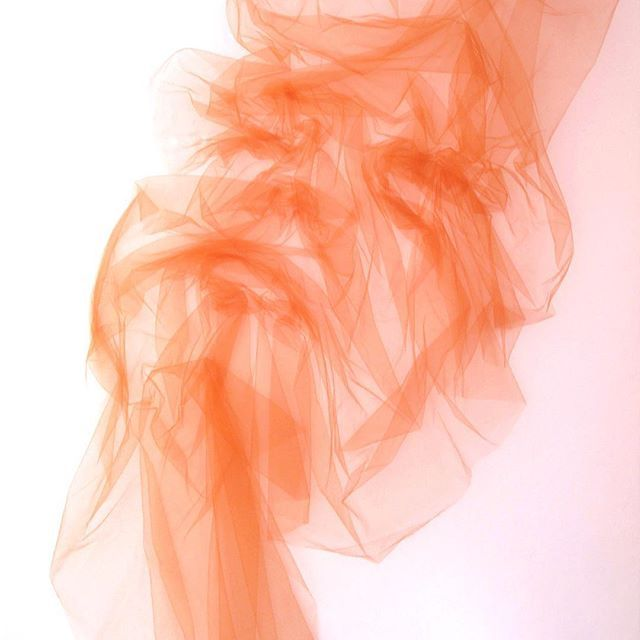 Some 'Serenity' this Saturday. Single piece of un-cut tulle on canvas. 135 x 165cm Benjamin Shine