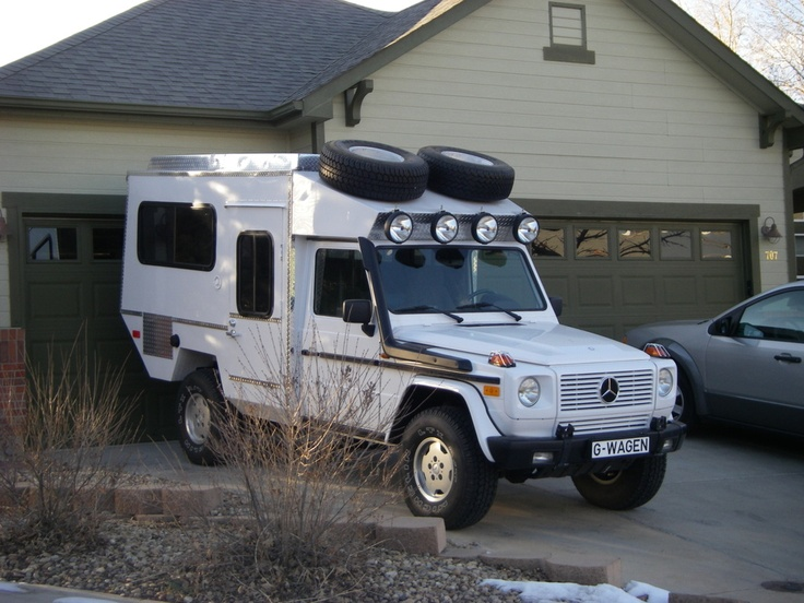 Mercedes 4x4 g wagon camper camper pinterest posts for Mercedes benz camper for sale
