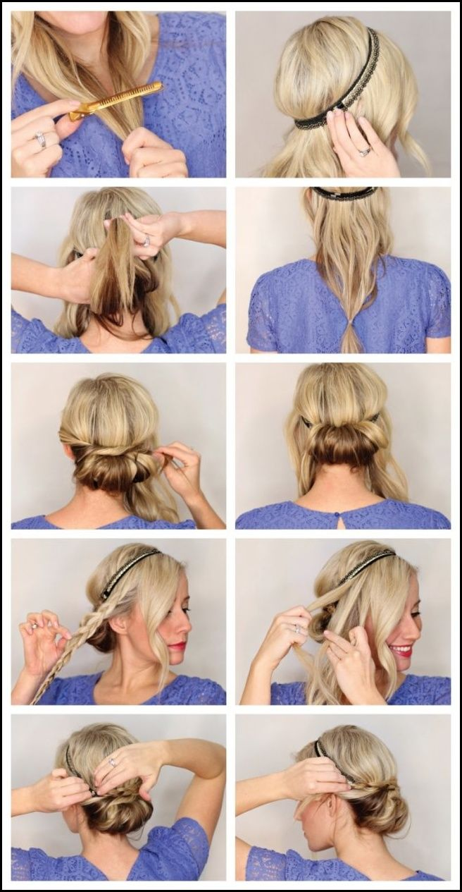 Cool Knot Hairstyle With Headband Chic Ideas Hairstyle Headband