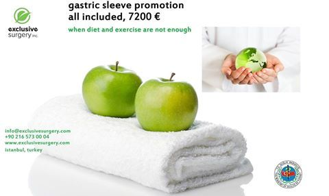 Gastric Sleeve Promotion all included 7200 €...when diet and exercise are not enough.