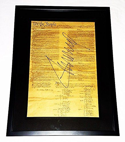 autographed donald trump 2016 united states constitution 45th president rare signed picture large 16x22