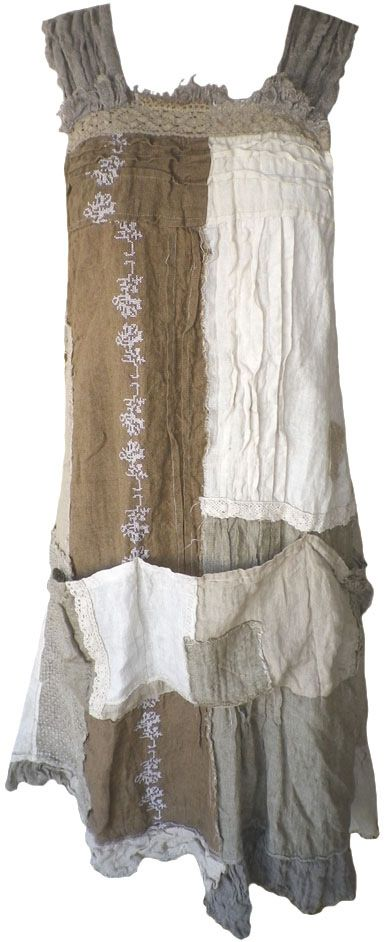 Magnolia Pearl: Patchwork linen Willow Dress                                                                                                                                                                                 More