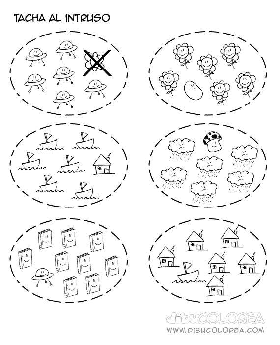 Risultati immagini per actividades de correspondencia uno a uno para preescolar para colorear
