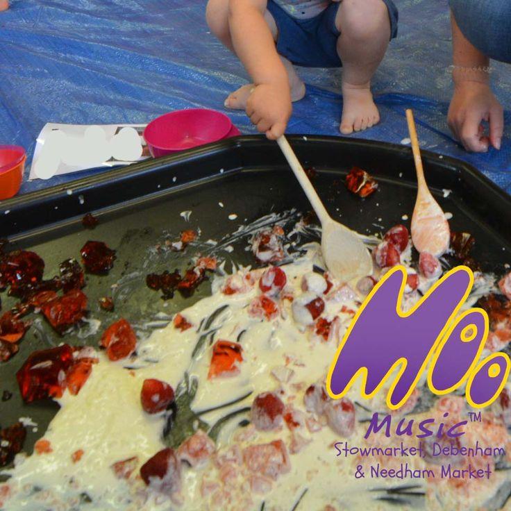 Strawberries and cream! Wimbledon baby! Taste Safe sensory tray