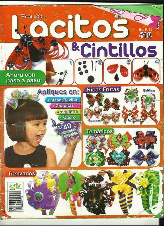 Revistas de manualidades Gratis: Revista lacitos y cintillos No. 18