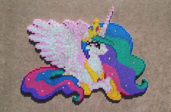 Principessa Celestia Perler Bead Art di PonyPerlerParlor su Etsy