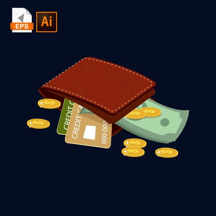 Гифки открытки кошельки с деньгами