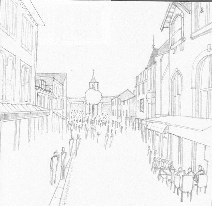 Architecture sketches   Pencil Sketches - Tom Daggers