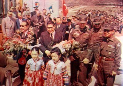 Yüksel Menderes & Adnan Menderes - Güney Kore, Seul ziyaretleri.