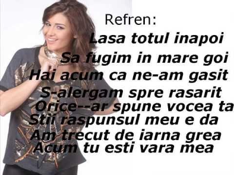 Alina Eremia-Tu esti Vara mea (Lyrics) - YouTube