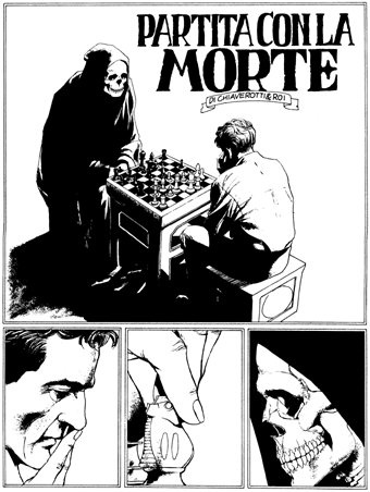 Chess game with Death, from Dylan Dog (Tiziano Sclavi)