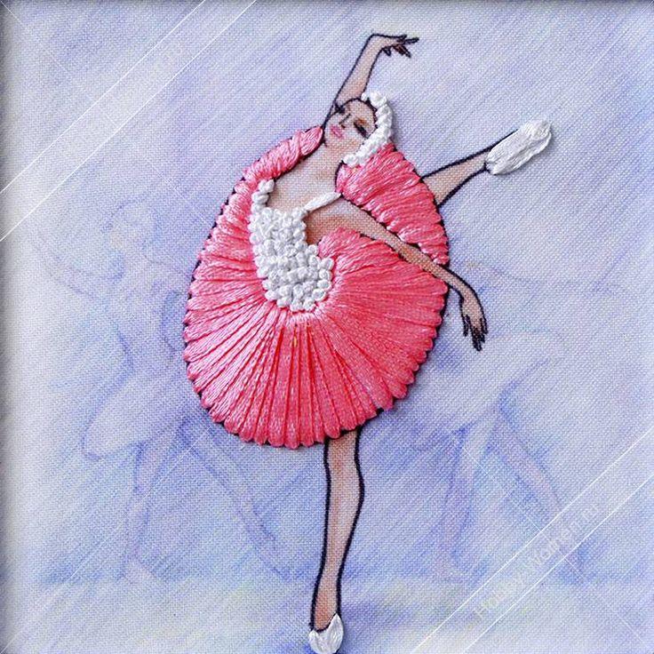 Набор для вышивания лентами Woman-Hobby ВЛБС0004 Серия Балерины