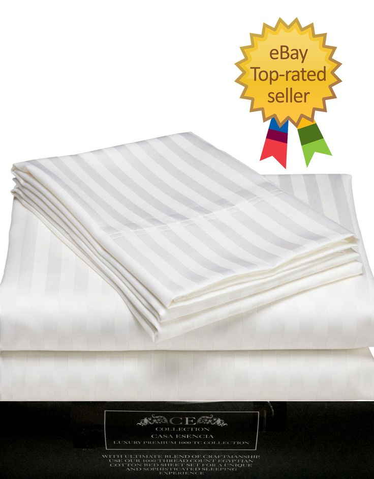 Egyptian Cotton 4 Piece Bed Sheet Set White California King Extra Deep Pocket
