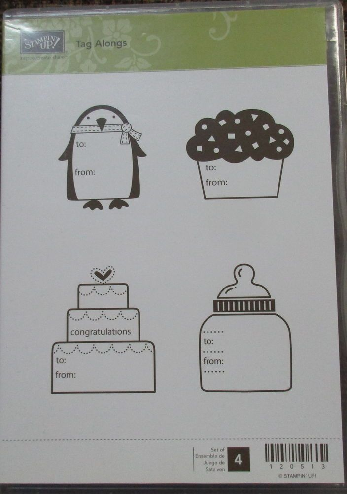 Stampin' Up Tag Alongs Clear Mount Stamp  Ronald Mcdonald set Retired Penguin