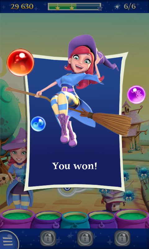 Bubble Witch 2 by King - You Win Flyin  - Match 3 Game - iOS Game - Android Game - UI - Game Interface - Game HUD - Game Art