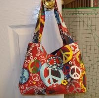 Sewing: Love & piece Tote Bag