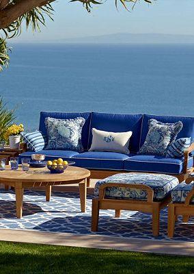 Gorgeous Coastal Teak Outdoor Furniture.
