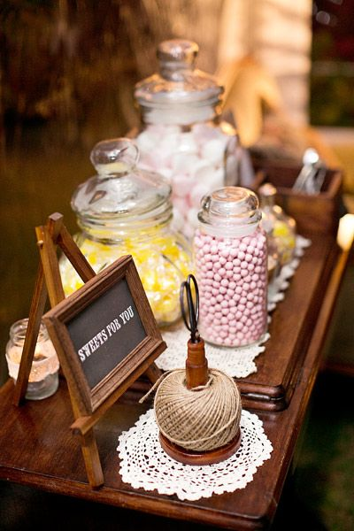 Guests also enjoyed a pastel themed candy buffet.