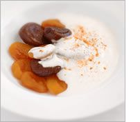 Stewed Figs and Apricots with Honey Yoghurt