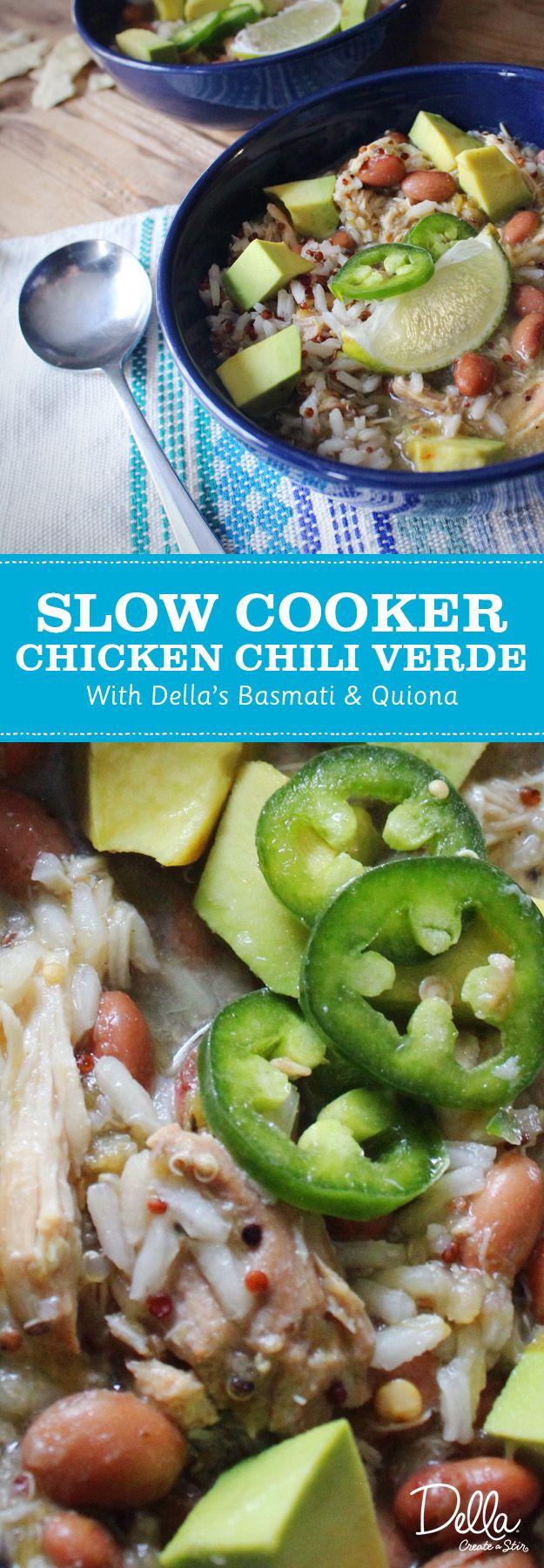 Slow Cooker Chicken Chili Verde | Della Rice