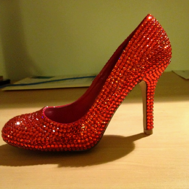 Here they are! My ruby red slippers