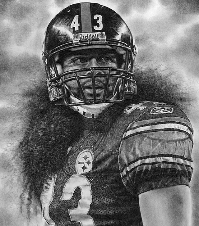 "42 Likes, 1 Comments - Pittsburgh Steelers (@steelers.dynasty) on Instagram: ""2 years ago today Troy Polamalu retired. We miss you @tpolamalu  you are my favorite Steeler of…"""