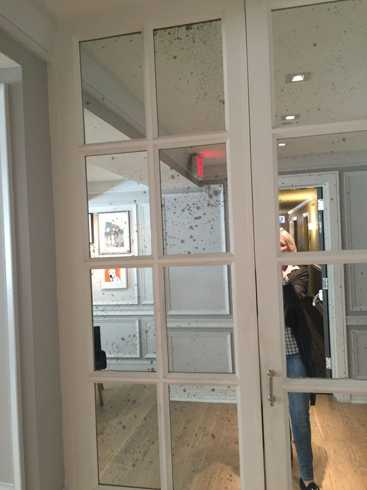 Mercury Glass Mirror Closet Doors Master Pinterest