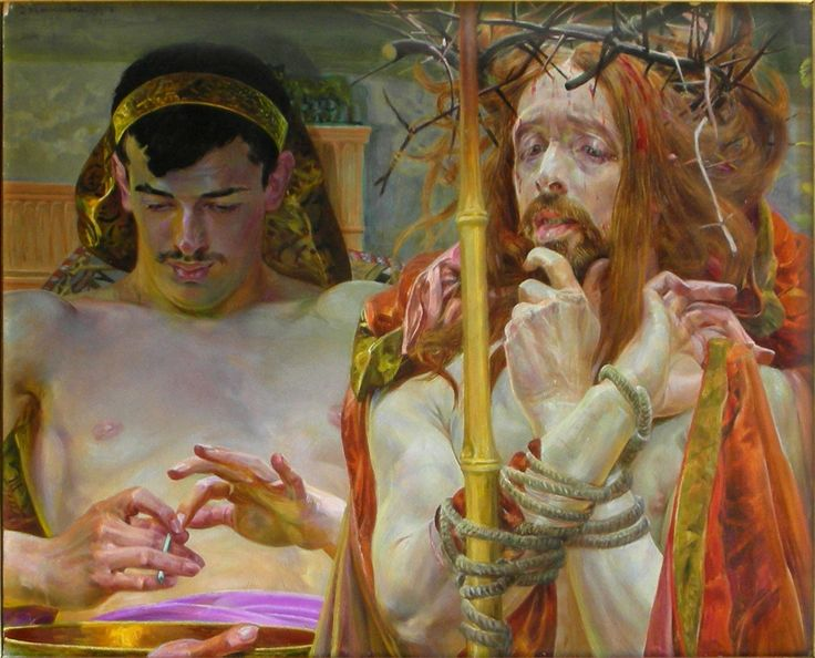 Lwowska_Galeria_Sztuki_-_Jacek_Malczewski_-_Christ_in_front_of_Pilate.jpg (1386×1119)