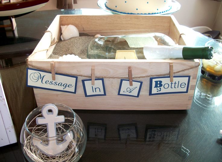 Baby Shower game - Advice for the mom to be for a nautical themed baby shower