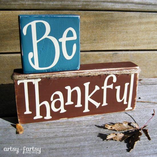 Cricut Vinyl Projects | Vinyl Projects/Silhouette/Cricut / artsy-fartsy mama: Be Thankful