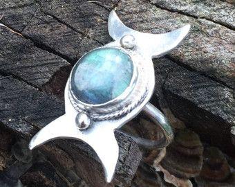Anillo Triple diosa diosa joyería anillo de Wicca por BonfireDesign