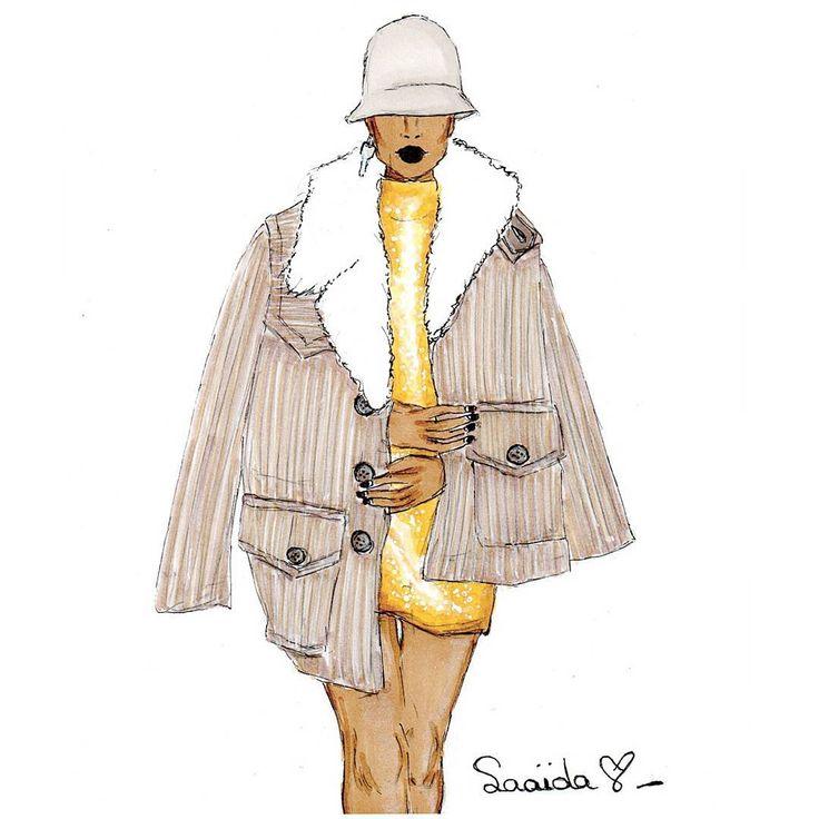 Marc Jacobs Fall '17 Illustration by Saaida