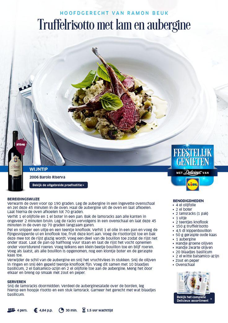 Truffelrisotto met lam en aubergine - Lidl Nederland