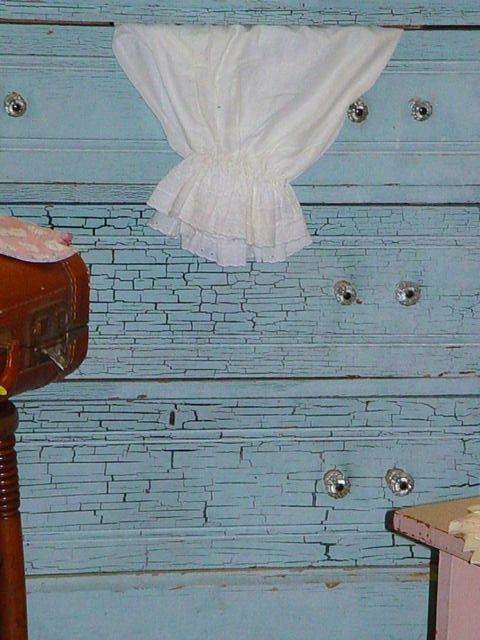 light blue painted furniture   Antique Dresser Old Crackle Blue Paint Cottage Chic and Shabby ...