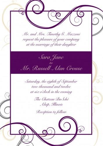 29 best Wedding invitation ideas images on Pinterest Invitation - best of invitation letter sample cic