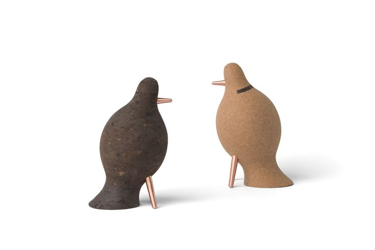 """""""Colombo by night"""" (left) and """"Colombo by day"""" (right). The Colombo pigeon flies by day and by night, expressing the desire to never stop flying through the world but always valuing its roots. #damfurniture #smilewithdam #corkaccessories"""