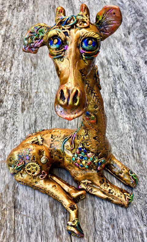 Saskia 11 | Tracey Keller BRONZE Giraffe Sculpture